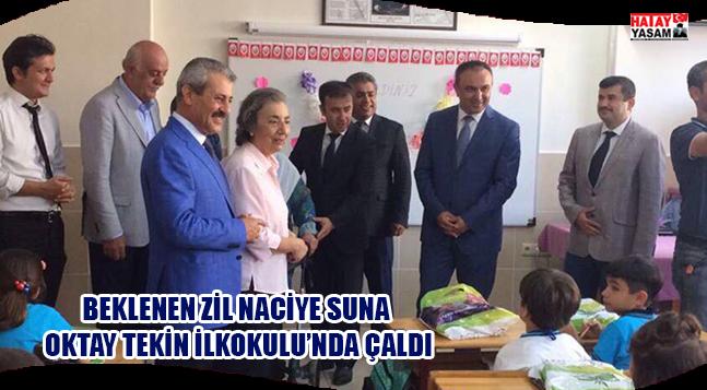 BEKLENEN ZİL NACİYE SUNA OKTAY TEKİN İLKOKULU'NDA ÇALDI
