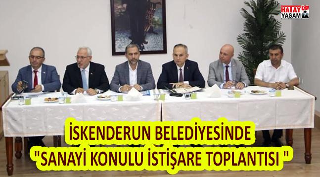 """İSKENDERUN BELEDİYESİNDE """"SANAYİ KONULU İSTİŞARE TOPLANTISI """""""
