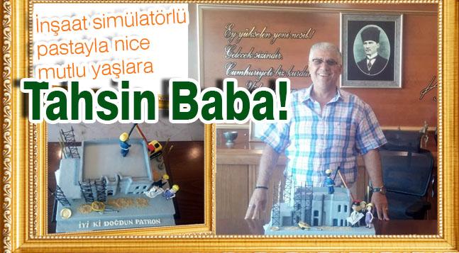 İnşaat simülatörlü pastayla nice mutlu yaşlara Tahsin Baba!